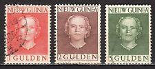 Dutch New Guinea - 1950 Definitives Juliana - Mi. 19-21 VFU