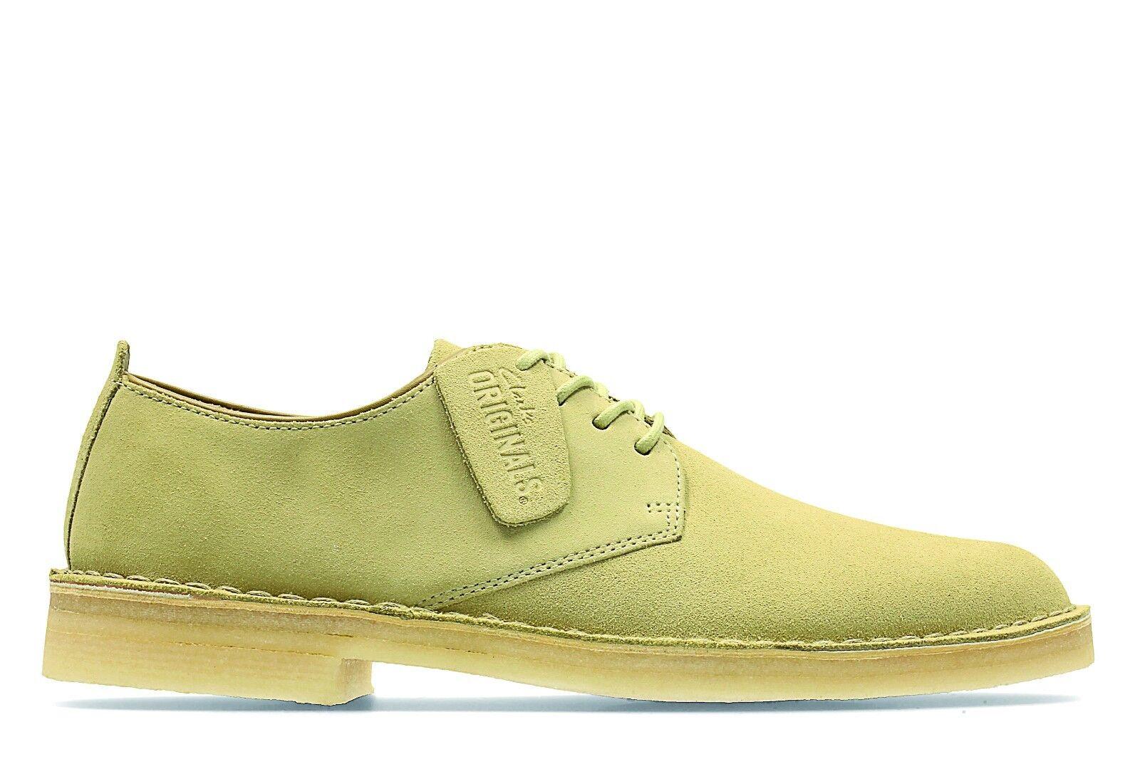 Wüste London Clarks Originals Schnürer Herren Schuhe Ahorn Veloursleder