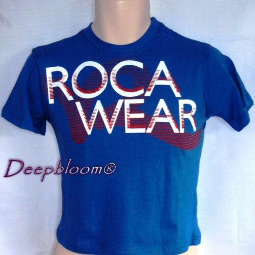 ROCAWEAR TOP SHIRT BOYS PRINTED FRONT SZ 4 5 6 7 BLUE NEW