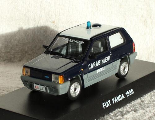Fiat Panda carabineros policía azul oscuro 1980 1:43 maqueta de coche
