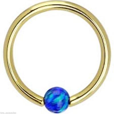 "Captive Nipple Ear Ring 14 Gauge 7//16/"" Rose Gold Plate 4mm Ball Body Jewelry"