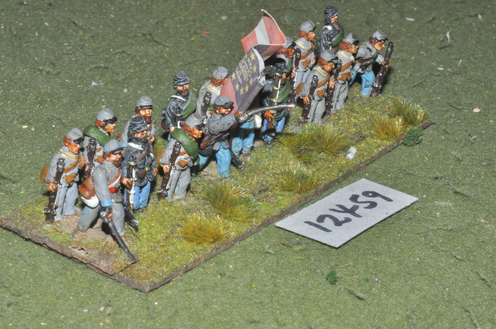 25mm ACW   confederate - american civil war infantry 18 figures - inf (12459)