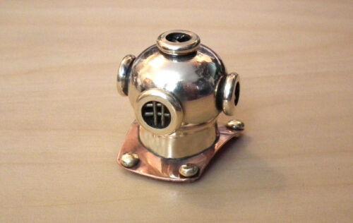 1//12 dolls house miniature Divers diving Helmet MarkV solid brass Study desk LGW