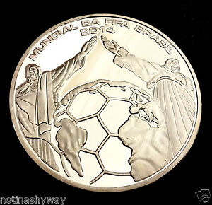WORLD-CUP-2014-Silver-Coin-Goal-Net-Statue-of-Jesus-Christ-Soccer-Football-Retro