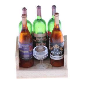 Wine-Juice-Bottles-Cup-EBod-Rack-1-12-Dollhouse-Drink-Miniature-Accessory-TS