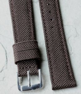 Brown-18mm-vintage-watch-band-made-of-Lorica-light-breathable-and-waterproof-NOS