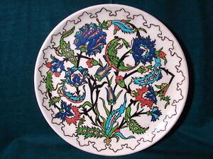 Vintage-Large-Heavy-Colorful-Floral-Stoneware-Crockery-Platter