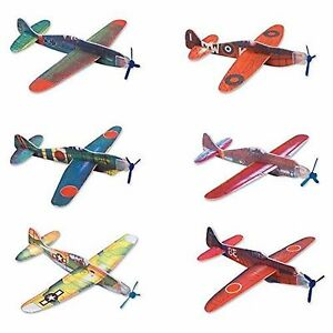 Details about Rhode Island Novelty Glider Planes 24 Planes Set Ages 3+ Boys  Girls Gift Fly Fun