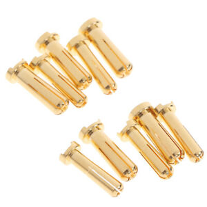5pcs-4-5mm-Bullet-Banana-Plug-Connector-Male-for-RC-Battery-Part-Gold-PlatedEB