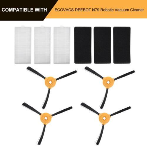 10Pcs N79 Filter Side Brush Kit for ECOVACS DEEBOT Robotic Vacuum Cleaner