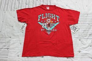 Vintage-1990-Original-FLIGHT-BY-JORDAN-T-Shirt-Tee-Michael-23-Large