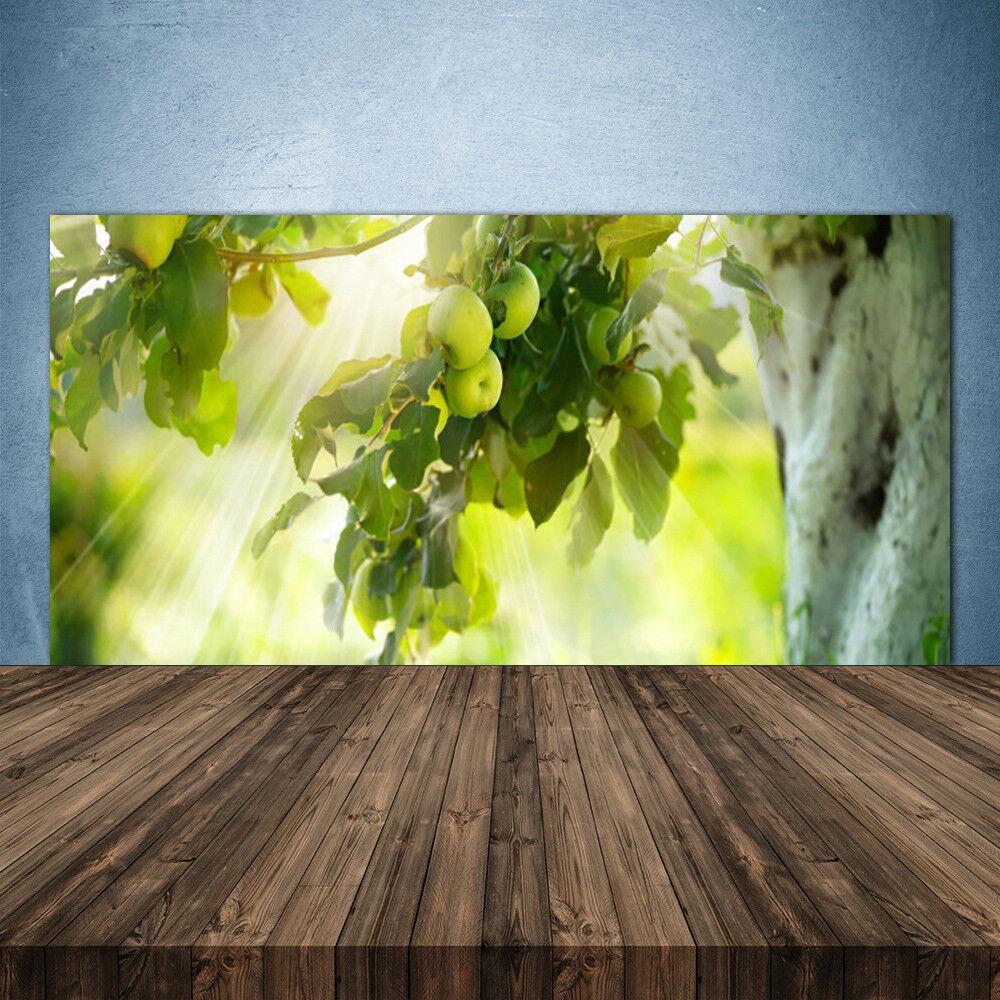 Crédence de cuisine en verre Panneau 140x70 Cuisine Pommes Branche