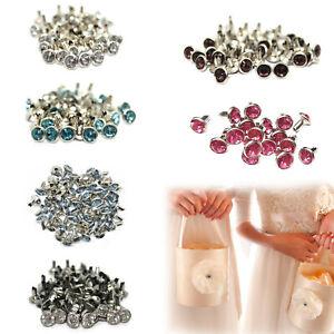 7mm-Acrylic-Diamante-Rivets-Studs-Brass-for-Clothing-Purses-HandBags-Decoration