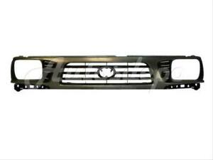 For 1995-1997 Tacoma 4Wd Sealed Beam Type Grille Gray Fame With Blk Insert