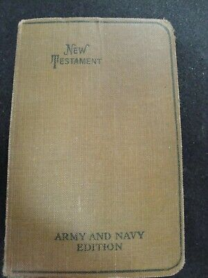 1917 WWI Pocket Book Testament American Bible Society ARMY /& NAVY Edition