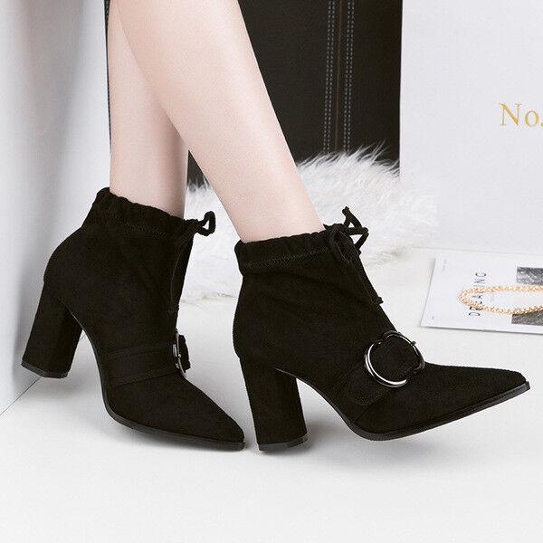 stivali stivaletti bassi scarpe caviglia nero 10 cm eleganti simil pelle 9672