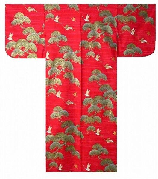 "DM-S00867-02-RE YUKATA with Obi M(58"") Made in JAPAN MEN's Kimono Japanese HAPPI"