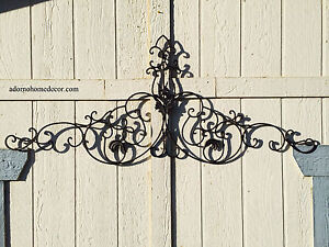 Image Is Loading Large Tuscan Wrought Iron Metal Wall Decor Rustic