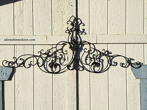 Large Tuscan Wrought Iron Metal Wall Decor Rustic Antique Garden ...