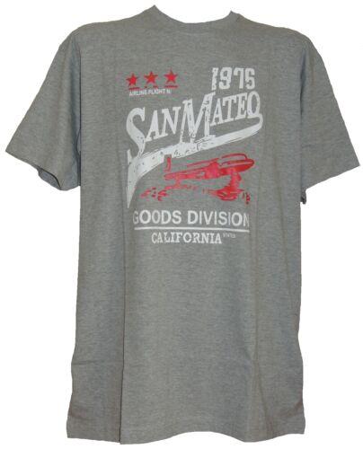 2XL 3XL 4XL 5XL 6XL **NEW** Mens Big Size Kam Grey Cotton San Mateo T Shirt