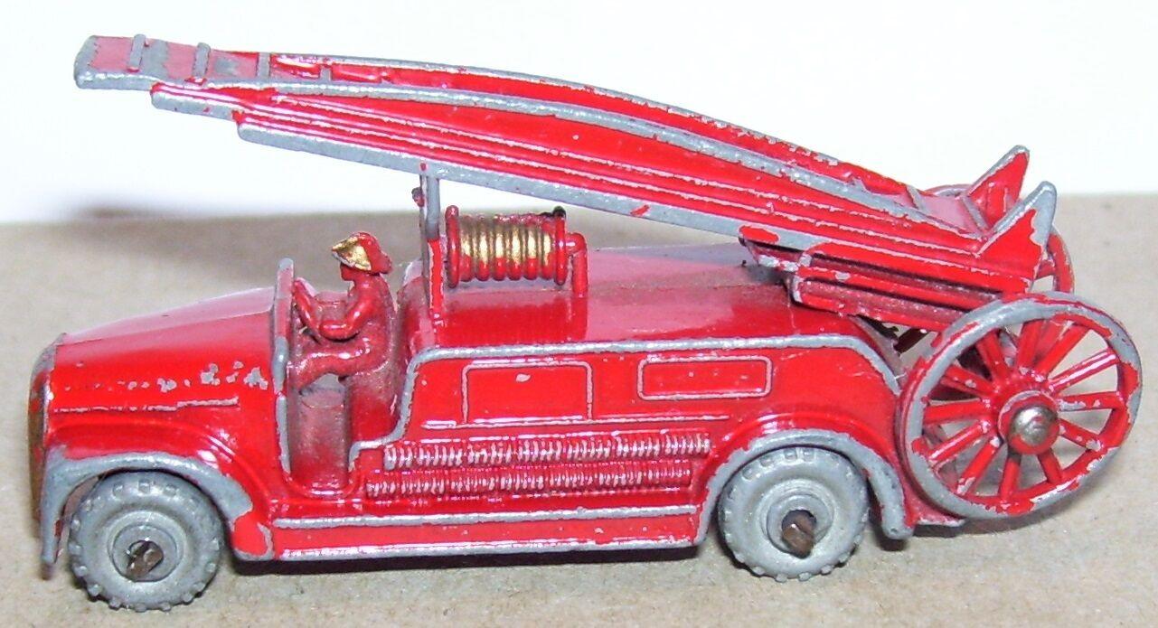 Alte lesney dennis feuerleiter 1   100 nr. ho camion sapeurs pompiers 1957 b