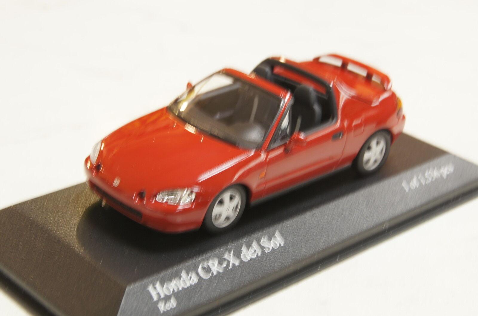Honda Civic CR-X del sol rojo 1993 1 43 Minichamps nuevo & OVP
