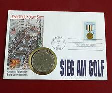 Isole MARSHALL 1991 eroi della Tempesta del deserto $5-Cover MEDAGLIA