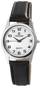 Classique-Herrenuhr-Weiss-Schwarz-Silber-Analog-Metall-Kunst-Leder-X2900152001