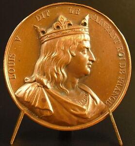 Medal-in-the-King-of-Francs-Louis-V-le-Idler-Sc-Keg-1838-French-King-Medal