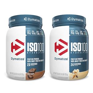 2 x DYMATIZE ISO 100. 100% Hydrolyzed Whey Protein Isolate 1.6 lbs (725 g)