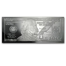 2013 4 oz Silver $100 Bill Bar - with Box and Certificate - SKU #73372