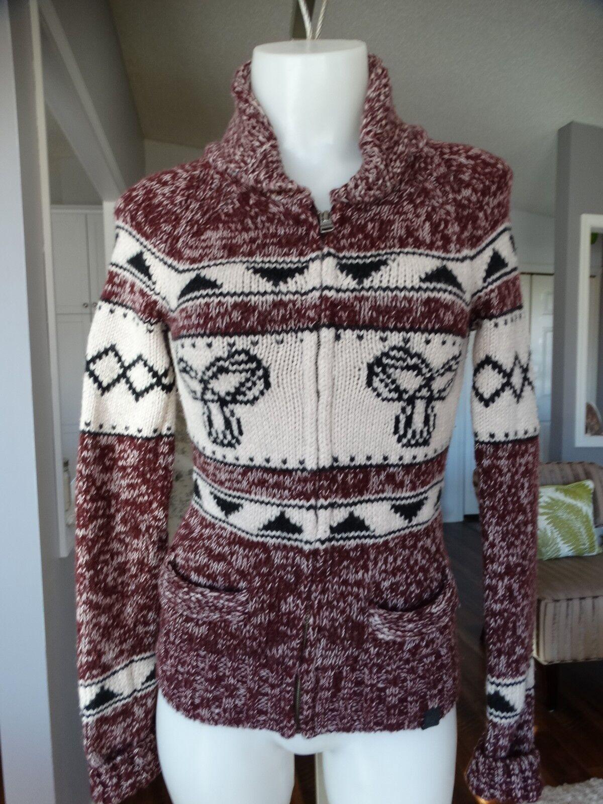 TNA ARITZIA Shawl collar Intarsia Sweater XS