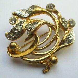 Bon CœUr Broche Ajourée Couleur Or Effet Diamanté Cristaux Diamant Bijou Vintage 2451 Remise En Ligne