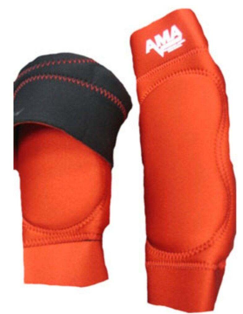 AMA RED Pro Knee Pads Large wrestling football MMA judo sports Jui Jitsu L