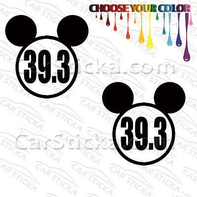 """2 of 5/"""" 48.6 Disney Dopey Mickey Marathon //A car vinyl stickers decals die cut"""