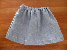 BJB Sasha dolls clothes, Light blue Denim mini skirt white stitch detail