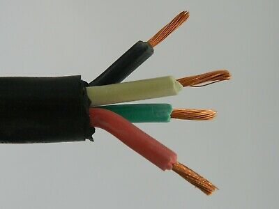 NEW 25/' 6//4 SOOW SO SOO SOW BLACK RUBBER CORD EXTENSION WIRE//CABLE