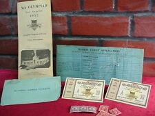 Rare Group 1932 OLYMPICS TICKETS Opening Ceremony FULL PROGRAM Order Forms +