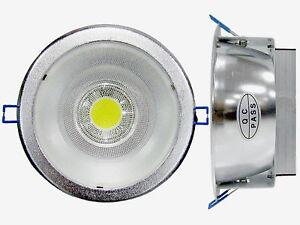 Plafoniera Da Controsoffitto.Dettagli Su Plafoniera Da Controsoffitto 1 Cob Led Da 12w Luce Bianco Freddo 6000 Kelvin
