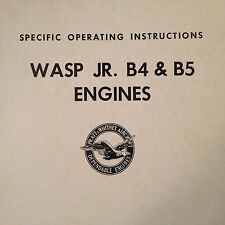 Wasp Jr. B4 and B5 Engines Specific Operation Instructions Booklet Manual