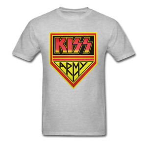 71200a6e64f NEW KISS Band Men s T-Shirt KISS ARMY Hard Rock and Roll Vintage Men ...