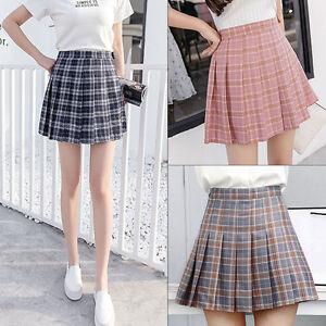 Womens-Tennis-Short-Mini-Skirt-Playful-Pleated-Dress-Slim-Thin-High-Waist-S-XXL