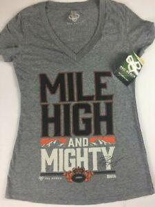 Peyton Manning Shirt Mile High Mighty Womens SZ S/M Denver Broncos V-Neck NEW