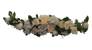 """CoopéRative 35"""" Swag ~ Beige ~ Pièces Maîtresses De Soie Mariage Fleurs Dais Gazebo Arch Decor-afficher Le Titre D'origine"""