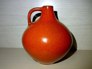 Vase-Dark-Orange-Graeflich-Ortenburg-Tambach-WGP-Mid-Century-50s-60s-H-14-cm