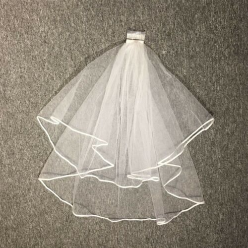 Nice Wedding Head Veil Wedding Tulle Veil Bridal Accessories Beauty 1.5m #HD3