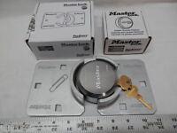 Master Lock 770 Hidden Shackle Hasp + 6270 Puck Lock Set Van Door Free Ship