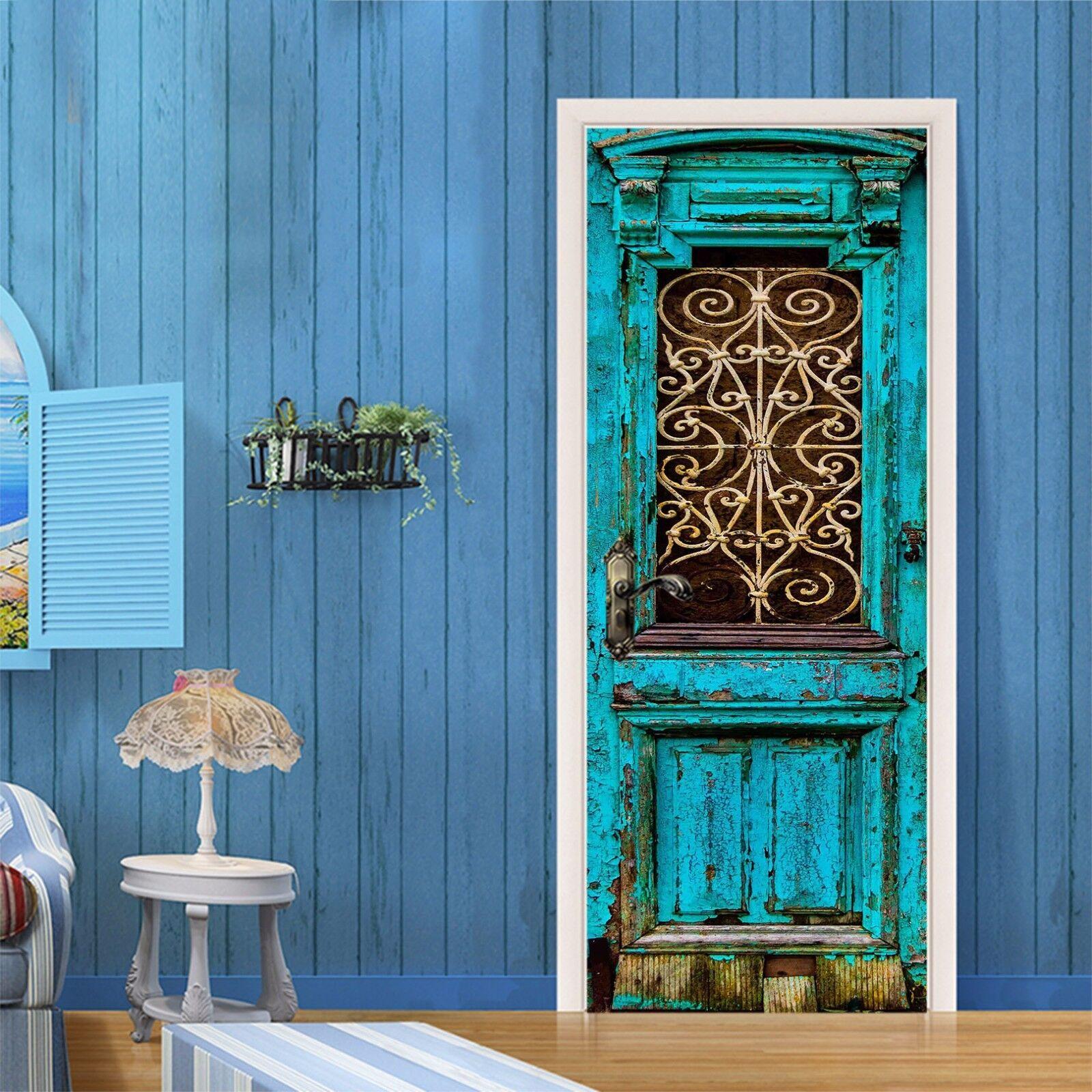 3D Retro Muster 43 Tür Mauer Wandgemälde Foto Wandaufkleber AJ WALL DE Lemon