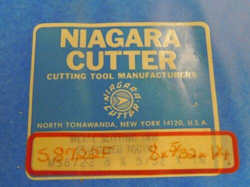 "Niagara 8/"" x 5//32/"" x 1.25/"" HSS Slitting Saw Slot Mill"