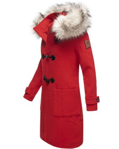 Navahoo Damen Mantel Trenchcoat Wintermantel Übergang Jacke Parka Lang Oksana